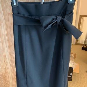 NEVER WORN J. Crew black skirt with tie